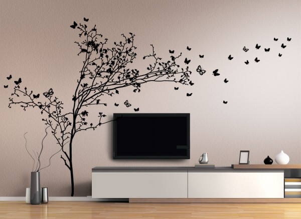 wandtattoo baum ast reuniecollegenoetsele. Black Bedroom Furniture Sets. Home Design Ideas