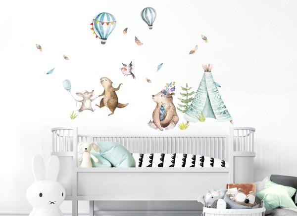 Little Deco Waldtiere mit Heißluftballons DL723