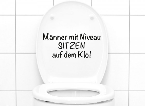 wandtattoo wc aufkleber spruch m nner mit niveau w5495 wc aufkleber wandtattoos nach. Black Bedroom Furniture Sets. Home Design Ideas