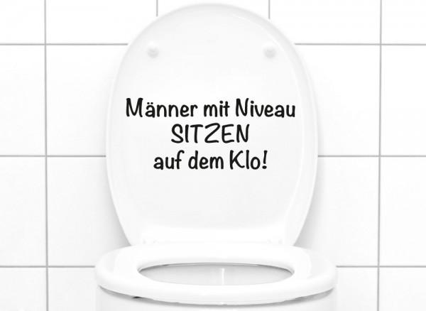 """Wandtattoo WC Aufkleber Spruch """"Männer mit Niveau..."""" W5495"""