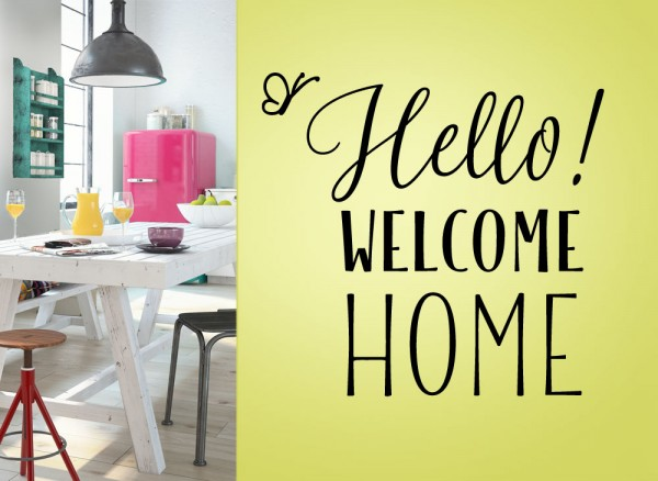 Wandtattoo Spruch Hello Welcome Home G162