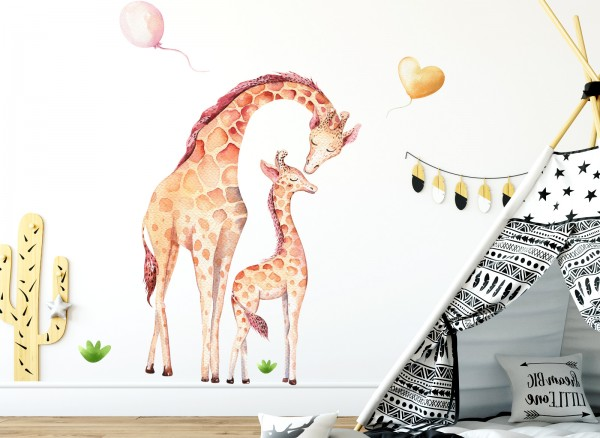 Wandtattoo Giraffen DL137 | Mädchen | Kinderzimmer | Wandtattoos ...