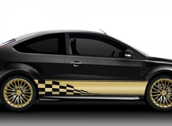 2er Set Autoaufkleber Racingstyle X7134