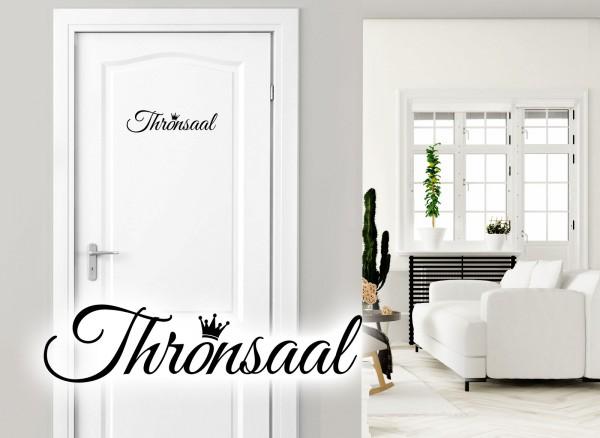 Wandtattoo WC Aufkleber Thronsaal mit Krone W3190