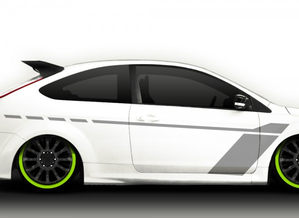 2er Set Autoaufkleber Racingstyle X7159