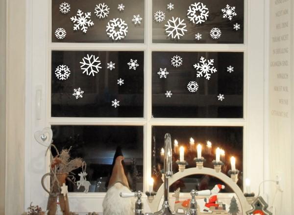 Wandtattoo Fensteraufkleber Schneeflocken W885