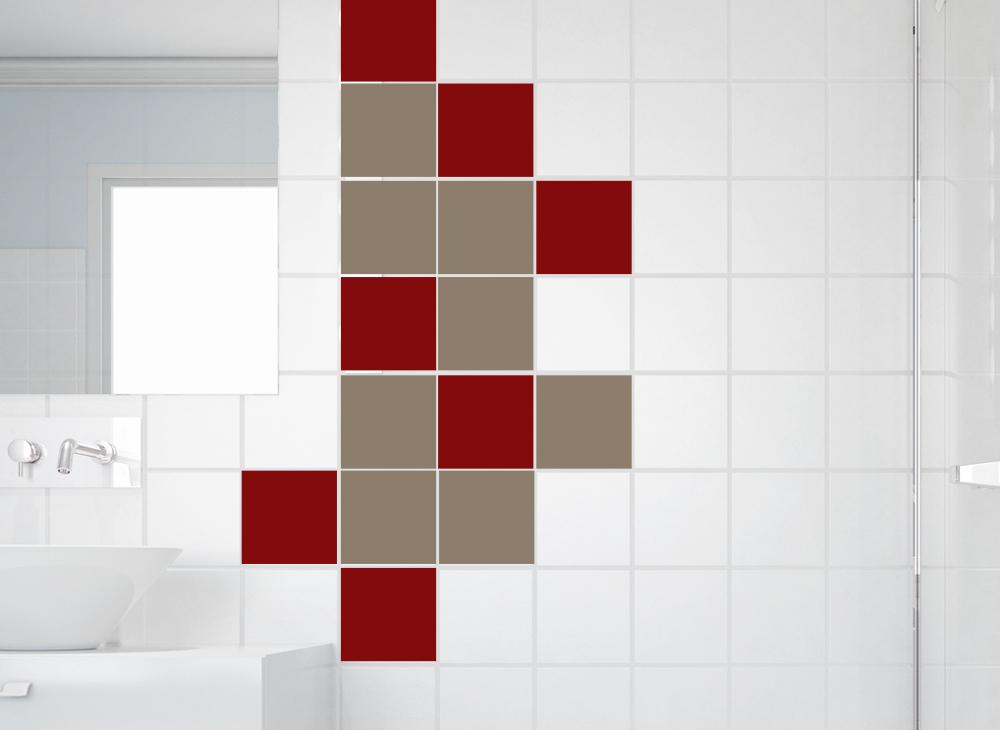 wandtattoo fliesenaufkleber fliesendekor 10 st ck w950. Black Bedroom Furniture Sets. Home Design Ideas