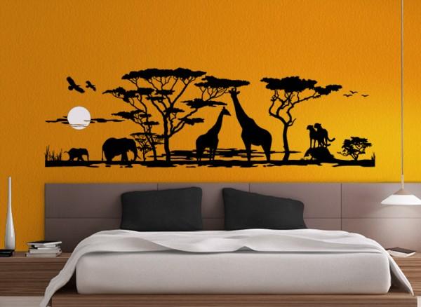 wandtattoo afrika - savanne w683 | tiermotive | wohnzimmer