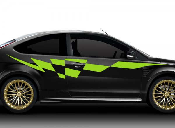 2er Set Autoaufkleber Racingstyle X7135