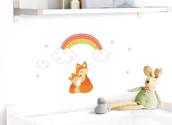 Little Deco Wandtattoo Fuchs & Regenbogen DL496