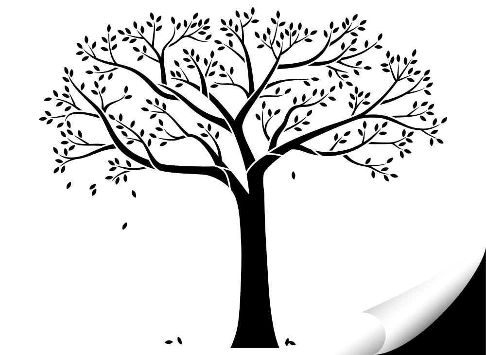 wandtattoo baum mit Ästen und blättern w5143 | bäume